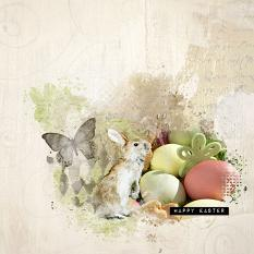 layout using ScrapSimple Embellishment Template : easter Stories Clipping Mask by Florju Designs
