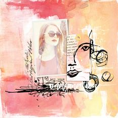 Layout created using Art Journal Paper Templates