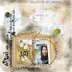 Layout using ScrapSimple Tools - Styles: Art Journal by Florju Designs