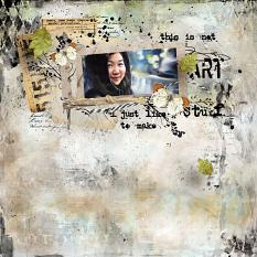 layout using Value Pack : Art Journal by Florju Designs