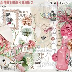 Embellishments & Word Art included in A Mother's Love 2  Digital Scrapbooking Kit by AFT Designs
