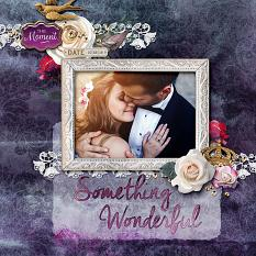"""Something Wonderful"" digital scrapbook Layout by Darryl Beers"