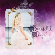 """Beautiful Day"" digital scrapbook layout by Darryl Beers"