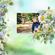 layout using Blue Spring Collection by Florju Designs