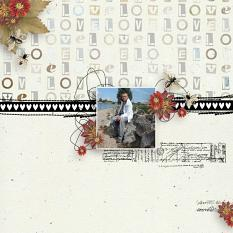 layout using Vintage Spring Collection Biggie by Florju Designs