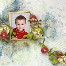 layout using Value Pack : Vintage Spring by Florju Designs