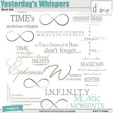 yesterday's whispers word arts by d's design
