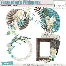 yesterday's whispers clusters by d's design
