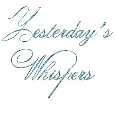yesterday's whispers alphabet by d's design