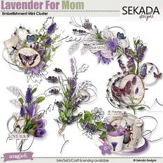 Lavender For Mom Embellishment Mini Cluster