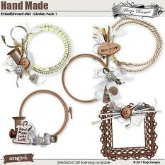Hand Made Embellishment Mini Cluster Pack 1 by Florju Designs