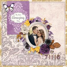 """Amazing Day"" digital scrapbook layout by Darryl Beers"