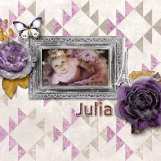 """Julia"" digital scrapbook layout by Darryl Beers"