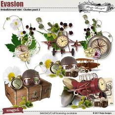 Evasion Embellishment Mini Cluster Pack 2 by Florju Designs