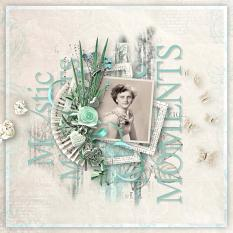 layout using yesterday's whispers value pack by d's design