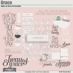 Grace Alpha & Word Art by Brandy Murry