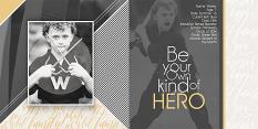Be Your Own Kind of Hero layout by Brandy Murry