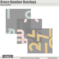 Grace Number Overlays Paper Super Mini