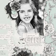 Lovely Girl layout by Brandy Murry