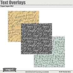 Text Overlays Paper Super Mini
