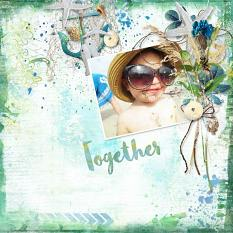 layout using Fresh air Embellishment Mini Cluster Pack 2 by Florju designs