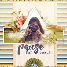 """Pause For Beauty"" digital scrapbooking layout by AFT Designs - Amanda Fraijo-Tobin @ScrapGirls using Lively Photo Mask Frame Templates"