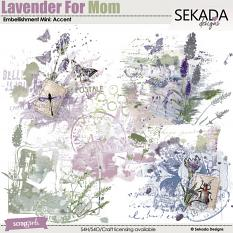Lavender For Mom Embellishment Mini Accent