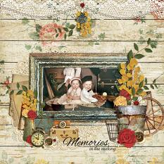 """Memories In The Making"" digital scrapbooking layout using Grandma's Vanity Collection Super Mini"