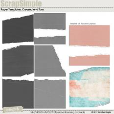 Scrap Simple Paper Templates: Creased and Torn