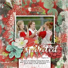 Spirited scrapbooking softball layout idea by AFT Designs by Amanda Fraijo-Tobin | AFTdesigns.net