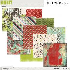 Lively Papers by AFT designs - Amanda Fraijo-Tobin @ScrapGirls.com | aftdesigns.net #digitascrapbook #papers #printables