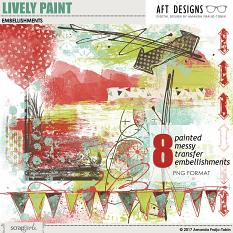 Lively Paint Embellishments by AFT Designs - Amanda Fraijo-Tobin @ScrapGirls.com