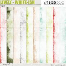 Lively White-ish Papers by AFT designs - Amanda Fraijo-Tobin @ScrapGirls.com | aftdesigns.net #digitascrapbook #papers #printables