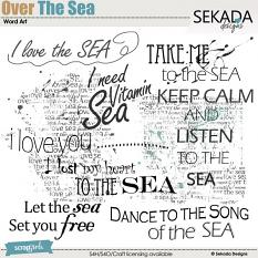 Over The Sea Word Art