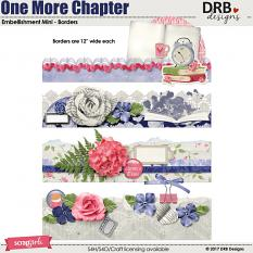 One More Chapter Emb Mini - Borders by DRB Designs | ScrapGirls.com