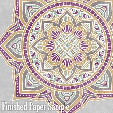 ScrapSimple Paper Templates: Mandala Patterns Finished Paper Sample