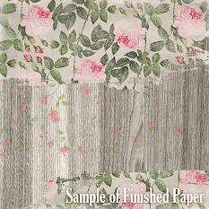 ScrapSimple Paper Templates: Wood Texture Finished Paper Sample