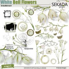 White Bell Flowers Embellishment Mini