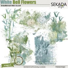 White Bell Flowers Embellishment Mini Accent