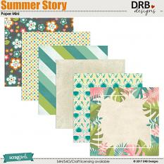 Summer Story Paper Mini by DRB Designs | ScrapGirls.com