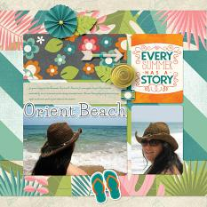 """Summer Story"" digital scrapbook layout by Darryl Beers"