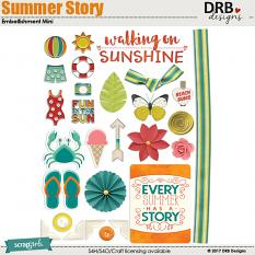 Summer Story Embellishment Mini by DRB Designs | ScrapGirls.com