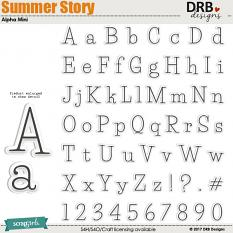 Summer Story Alpha Mini by DRB Designs | ScrapGirls.com