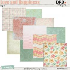 Love and Happiness Paper by DRB Designs | ScrapGirls.com