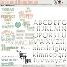 Love and Happiness WA and Alpha by DRB Designs | ScrapGirls.com