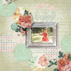 """Do More"" digital scrapbook layout by Darryl Beers"