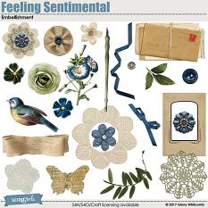 Feeling Sentimental Embellishments