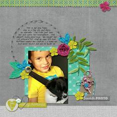 Layout by Kim using Project Keepsake: June Collection Biggie and Burlap Stack