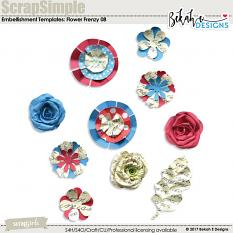 Scrap Simple Embellishments: Flower Frenzy 08