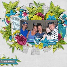 Layout by Bekki using Flower Frenzy 08 & Project Keepsake: June Collection Biggie